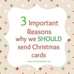 3 Important Reasons Why We Should Send Christmas Cards