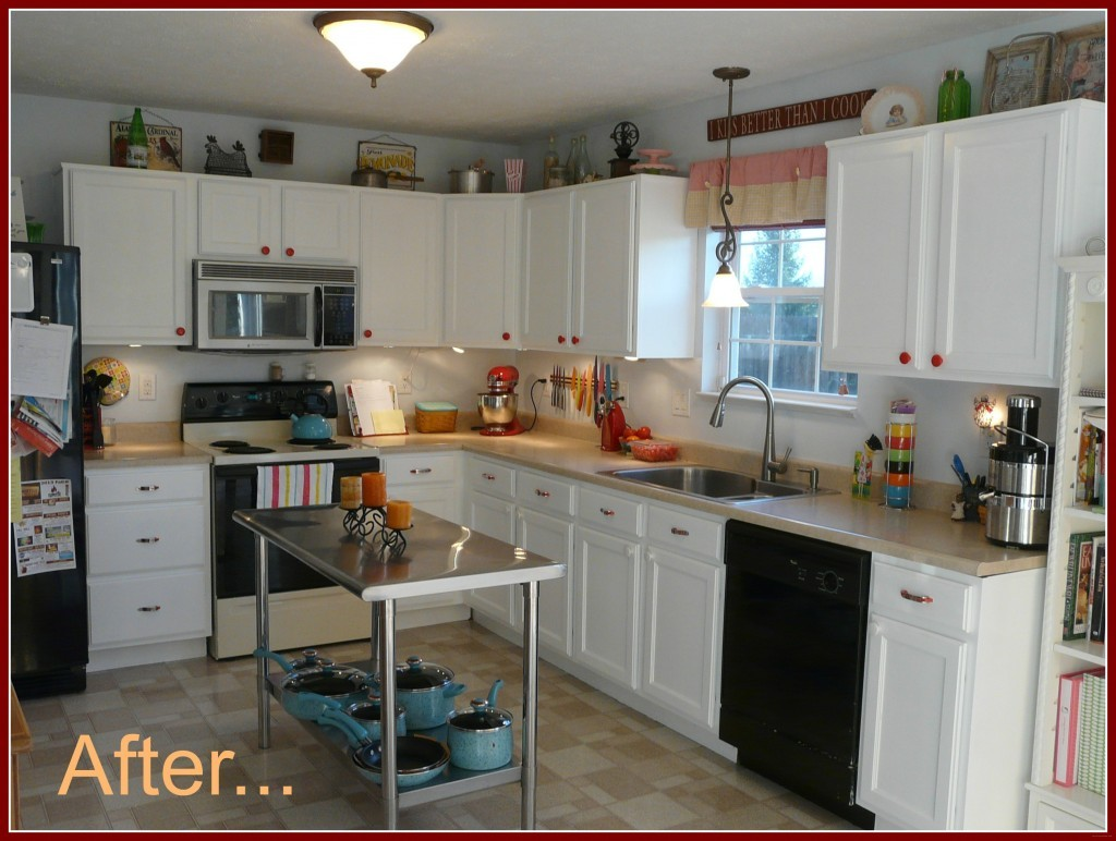 Inexpensive diy kitchen cabinet update for Diy kitchen cabinets