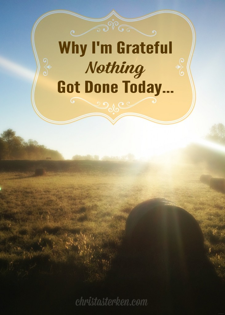 Why I'm Grateful Nothing Got Done Today