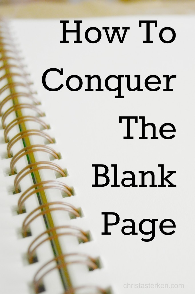 Wabi Sabi {How To Conquer The Blank Page}