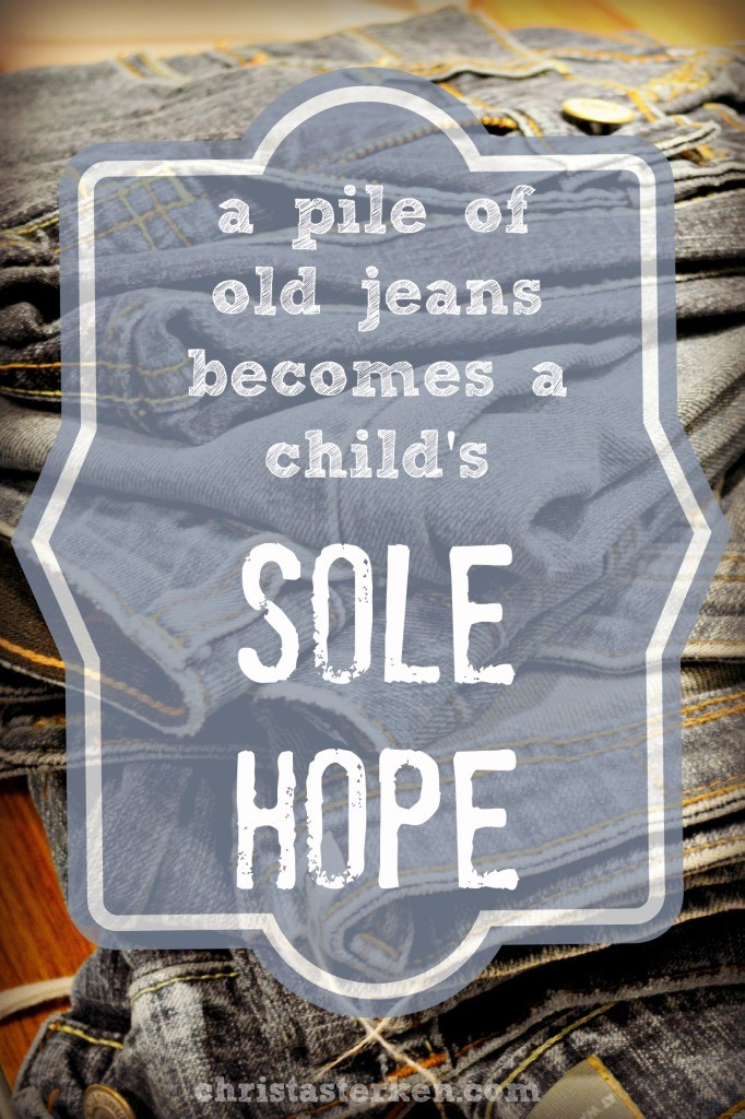 A Pile Of Old Jeans Becomes A Child's Sole Hope