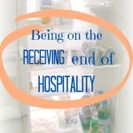 Being on the receiving end of hospitality