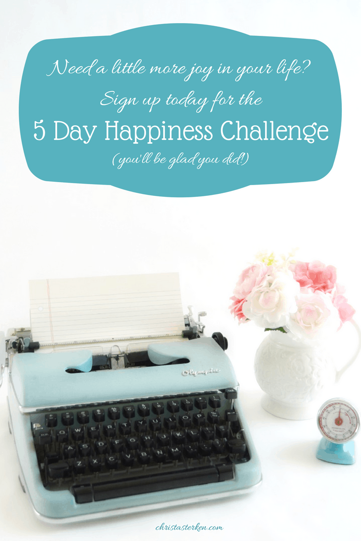 Free 5 Day Happiness Challenge