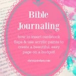 Bible Journaling {cardstock flaps and acrylic paints}