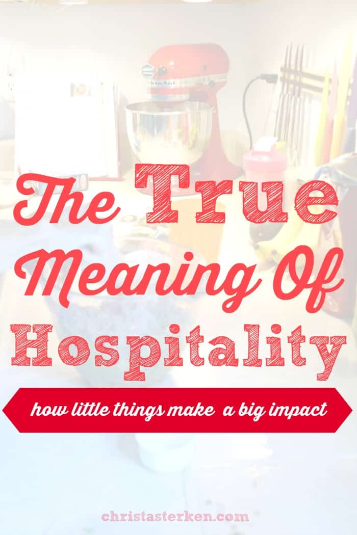 The true meaning of hospitality