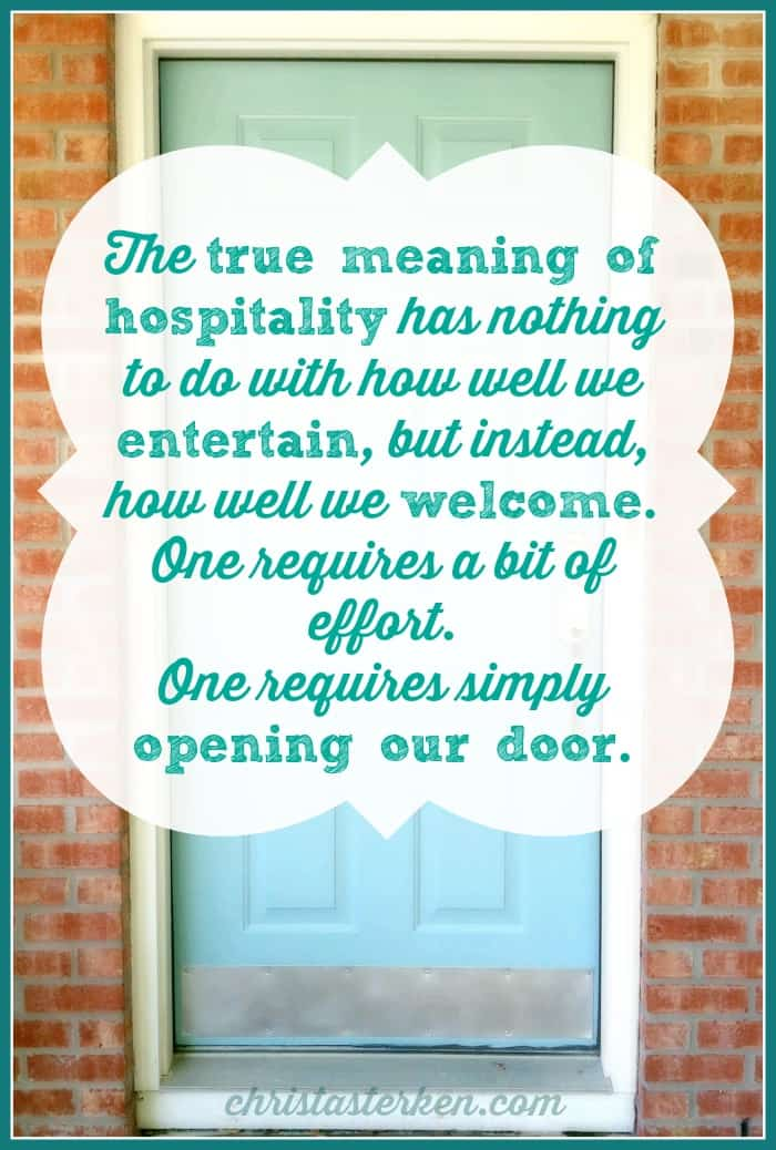 True meaning of hospitality