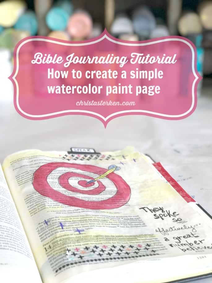bible journaling how to do a simple watercolor paint page