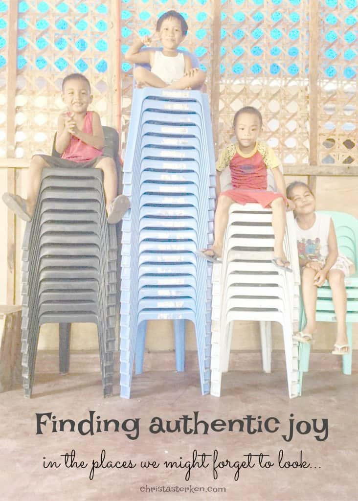 Finding authentic joy in the places we might forget to look...