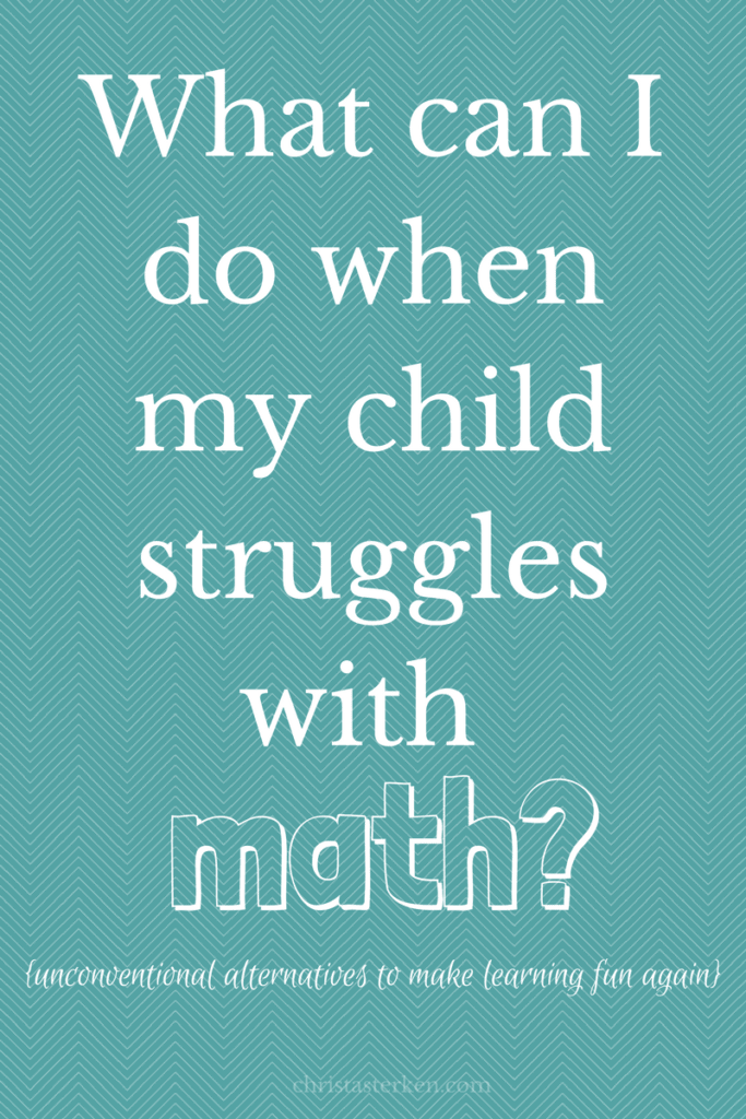 What can I do when my child struggles with math?