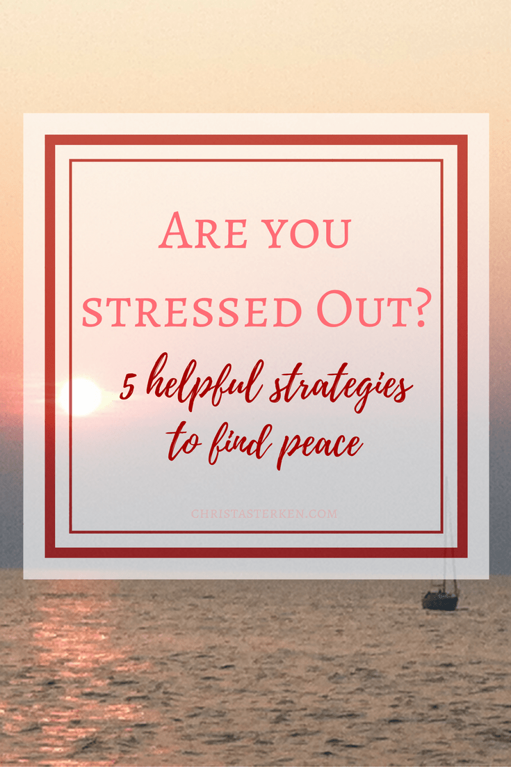 "Are you stressed out? 5 helpful strategies to find peace -Stress doesn't necessarily mean things are bad! Perhaps life is charged with new possibility or business ventures or growth of the family. Things might just be unusually busy this season… Stress can simply mean the feeling of being pulled beyond a posture of thankfulness. Getting caught up ""in it""."