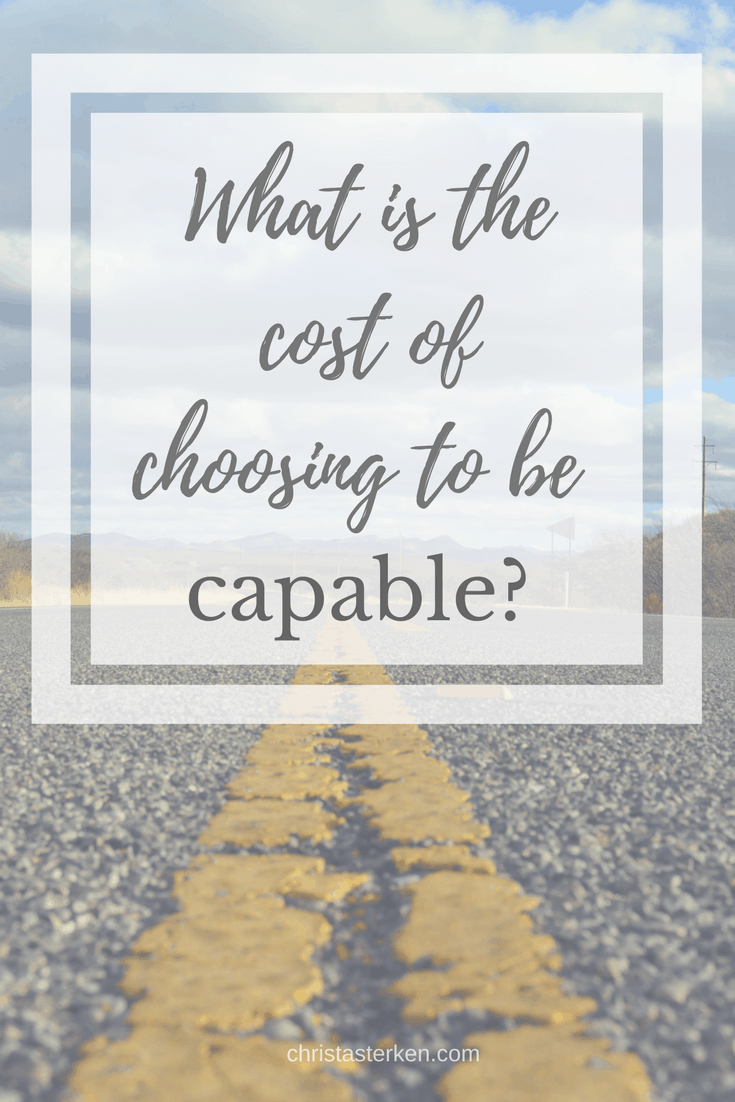 """What is the cost of choosing to be capable? -This is what raw and authentic (and scary) vulnerability looks like."""" username=""""Csterken""""] Still, here I am. Offering to share it with you. Because together, we face our sincere fears. But the best part? I…you…we…are always qualified to make a powerful shift in direction. First, however, we need to get real honest with ourselves."""