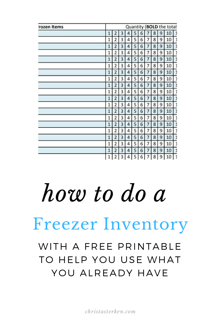 graphic relating to Freezer Inventory Printable named How In direction of Do A Freezer Stock- Absolutely free PDF Printable